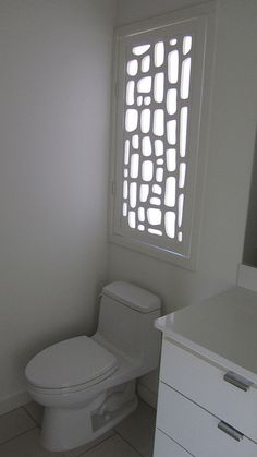 great way to cover a bathroom window - Redi-screen - bathroom window cover