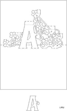 Kirigami - Livro de Letras - liru_origami - Picasa Web Albums Kirigami Templates, Pop Up Card Templates, Card Making Templates, Origami And Kirigami, Origami Paper, 3d Cards, Pop Up Cards, Pop Up Karten, Tarjetas Pop Up