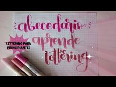 Abecedario #2 - Tutorial lettering - Rotulador tombow dual brush - UGDT - YouTube Calligraphy Alphabet, Calligraphy Fonts, Crayola, Hand Lettering, Diy And Crafts, Doodles, Bullet Journal, Printables, Neon Signs