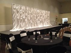 Pickup Style in white satin Chiavari Chairs, Charger Plates, Fine Linens, Chair Covers, White Satin, Event Decor, Backdrops, Ceiling Lights, Events
