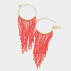 seed bead hoop earrings beaded hoop earrings beaded hoops
