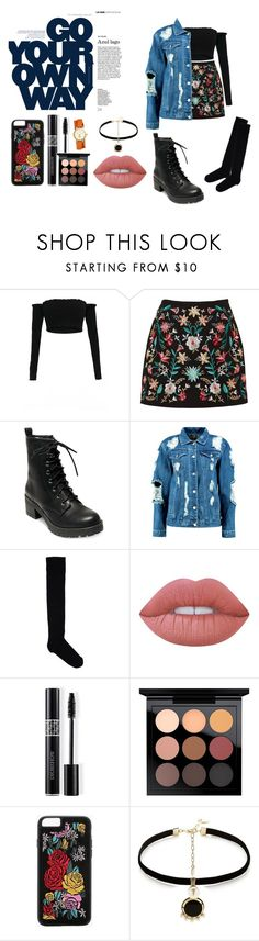 """""""Yupthe6"""" by leafylovesyou ❤ liked on Polyvore featuring Madden Girl, Boohoo, Marni, Lime Crime, Christian Dior, MAC Cosmetics, Anton Heunis and Tory Burch"""