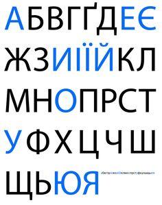 Ukrainian Cyrillic Alphabet