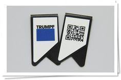 ClipBizz - DUAL (Vorder- und Rückseite) Logo & QR Code