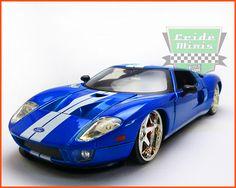 Ford Gt From Artwork  C B Fabricante Jada Miniaturas Na Escala   Com Pneus De Borracha Sintetica E