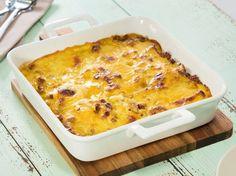 Unser beliebtes Rezept für Kartoffelauflauf mit Hackfleisch und Curry-Käsesoße und mehr als 55.000 weitere kostenlose Rezepte auf LECKER.de.