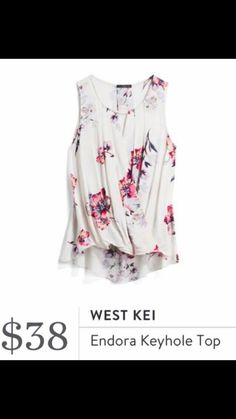 I love everything about this top! I want this for summer! The print is especially perfect,I love the colors and the style is perfect!