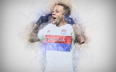Download wallpapers Memphis Depay, 4k, artwork, Olympique Lyon, soccer, Ligue 1, Depay, footballers, drawing Depay, Lyon FC Memphis Depay, Sports Wallpapers, Desktop Pictures, Football Players, Soccer, Artwork, T Shirts For Women, Drawings, Legends