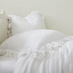 Rachel Ashwell Shabby Chic Petticoat White Euro Sham