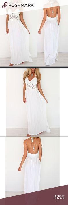 White maxi dress Cotton blend Dresses Maxi