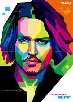 Abstract Portrait, Portrait Art, Abstract Art, Pop Art Face, Sketch Manga, Pop Art Portraits, Arte Pop, Johnny Depp, Sculpture Art