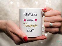 Willst du meine Trauzeugin sein? Kaffee Tasse Herz Beste Trauzeugin der Welt | Braut & Trauzeugin  http://de.dawanda.com/shop/JohannaLanger Hochzeit Braut Trauzeugin Trauzeuge Wedding Mug Bridesmaid Maid of Honor