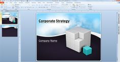 free #BusinessPowerpointTemplate with animated clouds video and 3D cube