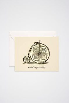 Ceci n'est pas un Bixi Greeting Card - Main and Local Of Montreal, Stationery, Greeting Cards, Place Card Holders, Art Prints, Gifts, Inspiration, Gift Ideas, Stationeries