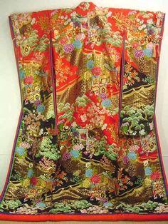 vintage geisha | Vintage Silk Wedding Kimono Geisha by HeartOfHealing on Etsy