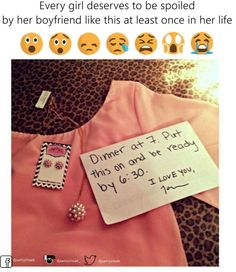 Every girl deserves this romantic gesture at least once.Am I the only one that would know my guy would pick out something weird looking? My Funny Valentine, Valentines, All You Need Is Love, Just In Case, Pretty Woman, Baby Dolls, Romantic Things, Romantic Ideas, Romantic Notes