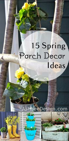 Spring is here! I can't wait to decorate my porch with one of these fabulous spring decor ideas! Spring Porch Decoration ideas- fun ideas, tips, tutorials and more.