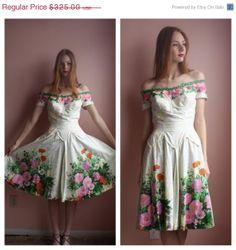 Vintage 50s Dress / Alix of Miami