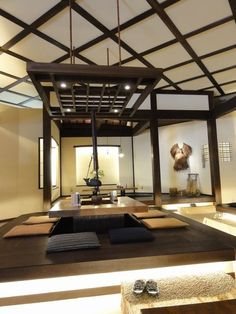 Japanese style irori dining/living table. - my dream space by delia