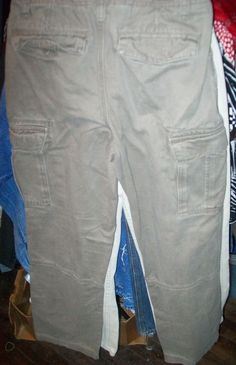 size 14 Boys J.Khakis Olive Green 100% cotton cargo Pants #JKhaki #CargoCombat