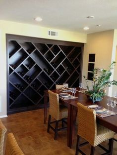 Use a single of those completely free DIY wine rack plans to build a beer probe for your own personal home or maybe as something. Wine Rack Cabinet, Wine Rack Wall, Wine Racks, Pot Racks, Wine Shelves, Wine Storage, Fridge Shelves, Wine Rack Plans, Built In Wine Rack