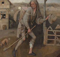 """Hieronymus Bosch, """"The Pedlar"""" (c. 1494-1516), oil on panel, Museum Boijmans Van Beuningen, Rotterdam, Netherlands (via Wikipedia) Hieronymus Bosch Paintings, Vikings Time, Germanic Tribes, Digital Museum, Medieval Times, Viking Age, Dutch Artists, Middle Ages, Archaeology"""