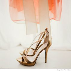 bronze strappy heels, love these!