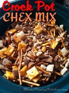 Crock Pot Chex Mix | momspantrykitchen.com