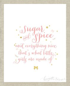 Wall+Art+Print++Girls++Room++Sugar+and+spice+and+by+brigetteturner,+$14.50