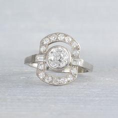 Image of .75 Carat Art Deco Diamond Engagement Ring