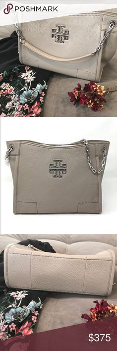 3258a847117b Tory Burch  Britten  Tote NWOT Tory Burch small Britten handbag in French  gray. Purchased new