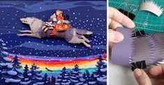 Russian Artists Create Intricate Paper Illustration Of Famous Fairytale | Bored Panda