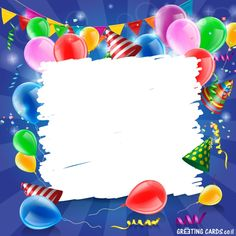 Confetti with colored balloons birthday background 03 confetti birthday balloons. - Confetti with colored balloons birthday background 03 confetti birthday balloons balloon background - Happy Birthday Frame, Happy Birthday Wishes Cards, Birthday Frames, Happy Birthday Images, Birthday Greeting Cards, Balloon Background, Confetti Background, Birthday Background, Vector Background