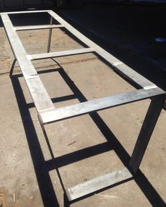 custom metal table base