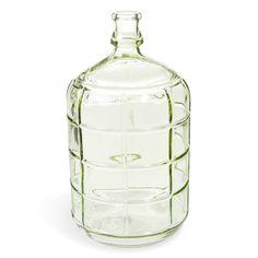 Bouteille déco en verre verte H 28 cm GARDEN
