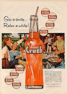 Vintage soda pop ad, I loved orange Crush Posters Vintage, Retro Poster, Poster S, Vintage Prints, Pub Vintage, Photo Vintage, Vintage Signs, Vintage Food, Vintage Porch