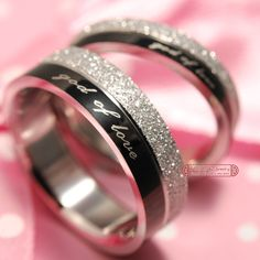 """GOKADIMA 1 Piece!! """"god of love"""" Engagement lover Couples Rings, his and hers promise ring Stainless Steel, WR016"""