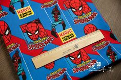 100x110cm Export Order Amazing Spiderman Printed Cotton Plain Upholstery Fabrics for Patchwork Tissue Sewing Cloth Tela Tecidos