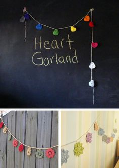 Crochet Garlands party crochet party ideas party favors parties party decorations party fun party idea party idea images party im. Bunting Garland, Party Garland, Bunting Flags, Garlands, Crochet Garland, Make Do And Mend, Arts And Crafts, Diy Crafts, Party Time