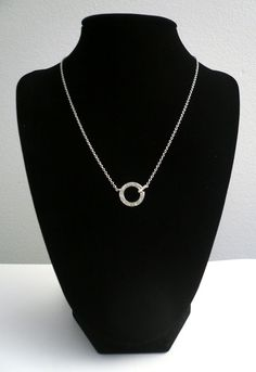 www.etsy.com/shop/glamrox  Sterling Silver and Cubic Zirconia Circle Necklace!