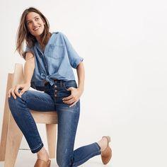 "10"" High-Rise Skinny Jeans: Drop-Hem Edition : shopmadewell high-rise skinny jeans | Madewell"