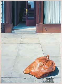 """John Register's painting """"LA Ashcan School"""" from 1977. Oil on canvas. 50 x 36 inches. Offered by Track 16."""