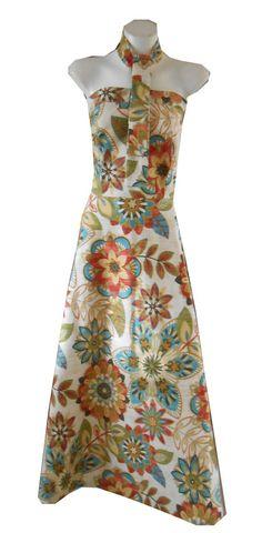 HARAH DESIGNS SUNRISE LINEN STRAPLESS DRESS AND TIE Designer Dresses, Sunrise, Strapless Dress, Tie, Summer Dresses, Fashion, Strapless Gown, Moda, Designer Gowns