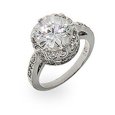 Crown Diamond Signity Star Cut CZ Ring offers a white diamond cubic zirconia stone set in an entrancing crown design. Made with sterling silver. Buy Rings, Cubic Zirconia Rings, Diamond Cuts, Jewelry Box, Engagement Rings, Sterling Silver, Star, Crown, Flawless Beauty