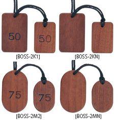 木製クローク札 (ひもタイプ)