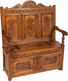 Ornate Carved Wood Victorian Prayer Bench