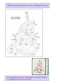 ED020 Christmas Tree on Craftsuprint designed by Emy van Schaik - Stitching…