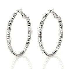 Inside Out Crystal Hoop Earrings
