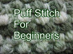 Crochet Puff Stitch - Left Handed Crochet Slow Motion Tutorial