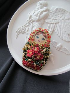 57 ideas for cake art project beautiful Bead Embroidery Jewelry, Fabric Jewelry, Beaded Embroidery, Jewelry Art, Beaded Jewelry, Beading Projects, Beading Tutorials, Beading Patterns, Brooches Handmade